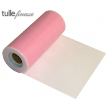 "Light Pink Tulle Ribbon 6"" x  25 yards (22.86m) 1pc"